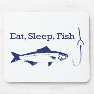 Eat Sleep Fish Mouse Pad