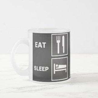 Eat Sleep FISH! Frosted Glass Mug