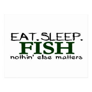 Eat Sleep Fish Postcard