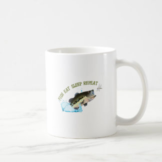 EAT SLEEP FISH REPEAT MUG