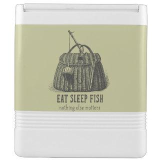Eat Sleep Fish Vintage Tackle Box Igloo Cooler