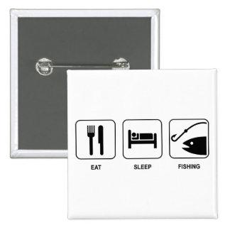 Eat Sleep Fishing Button