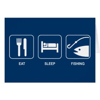 Eat Sleep Fishing Card