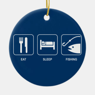 Eat Sleep Fishing Ornament