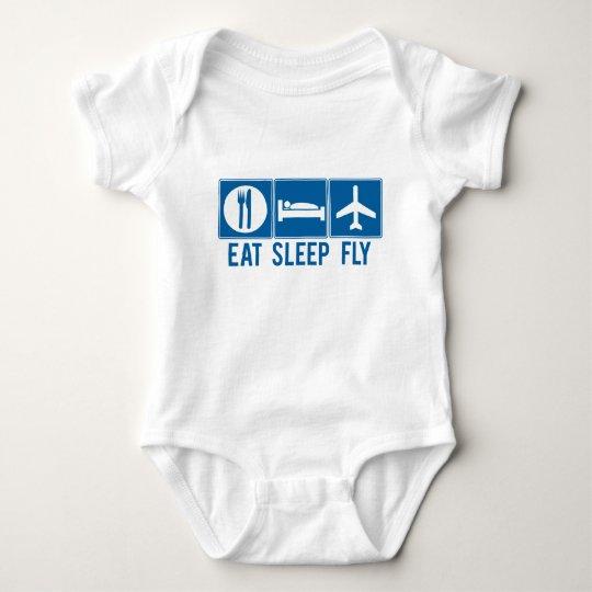 Eat Sleep Fly Baby Bodysuit