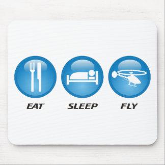 Eat Sleep Fly Mouse Mat