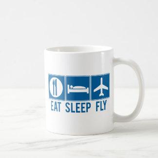 Eat Sleep Fly Basic White Mug