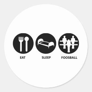 Eat Sleep Foosball Classic Round Sticker