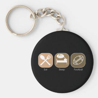 Eat Sleep Football Basic Round Button Key Ring