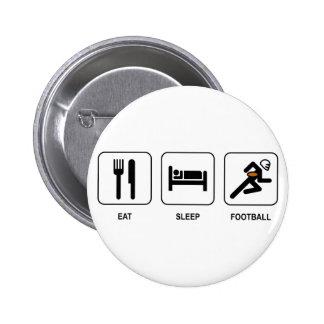 Eat Sleep Football Button