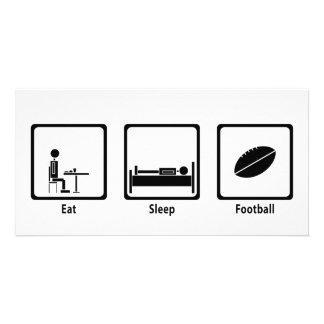 Eat Sleep Football - Football Lover Photo Cards