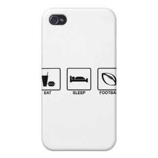 Eat Sleep Football Covers For iPhone 4