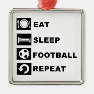 Eat, sleep, football, repeat. christmas ornament