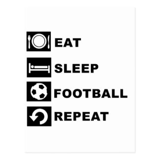 Eat, sleep, football, repeat. postcard