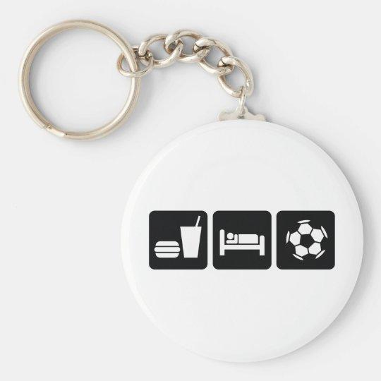 Eat Sleep Football / Soccer Key Ring
