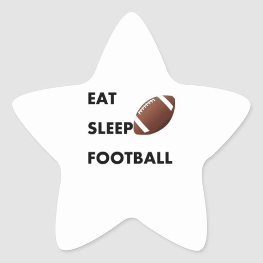 Eat Sleep Football Sticker