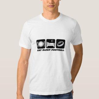 eat sleep football t shirt