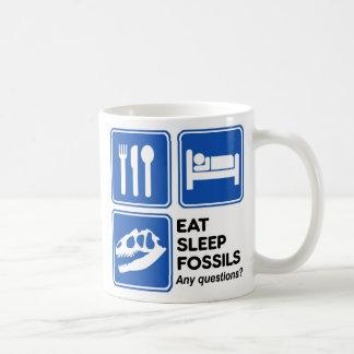 EAT, SLEEP, FOSSILS COFFEE MUG