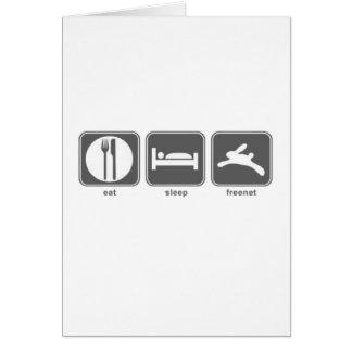 Eat Sleep Freenet Note Card