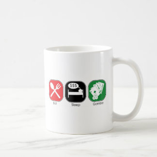 Eat Sleep Gamble Coffee Mug