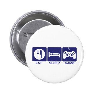 Eat Sleep Game 6 Cm Round Badge