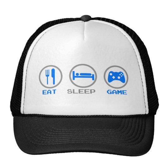 Eat Sleep Game Again - Gamer, geek video games Cap