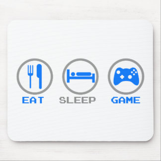 Eat Sleep Game Again - Gamer, geek video games Mouse Pad