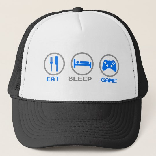 Eat Sleep Game Again - Gamer, geek video games Trucker Hat