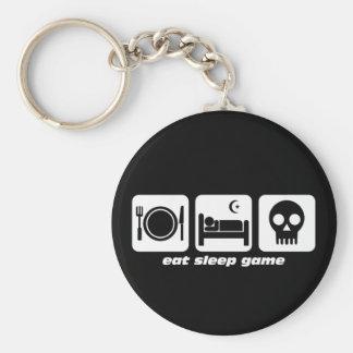 Eat sleep game key ring
