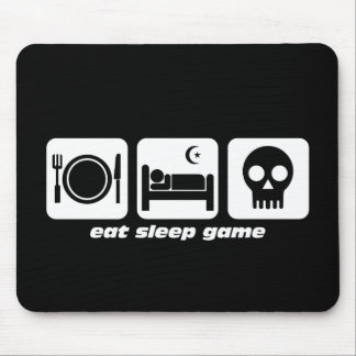 Eat sleep game mouse mat