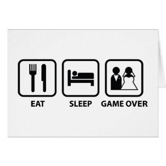 Eat Sleep Game Over Card