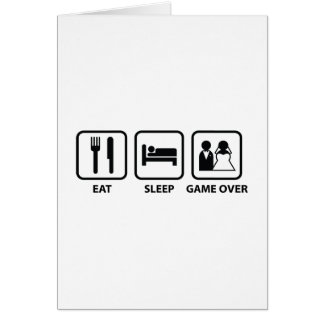 Eat Sleep Game Over Greeting Card