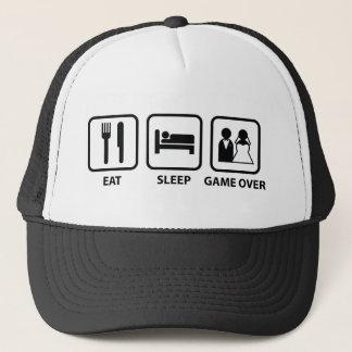 Eat Sleep Game Over Trucker Hat