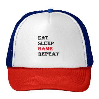 Eat Sleep Game Repeat Cap