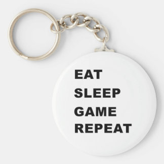 Eat, Sleep, Game, Repeat. Key Ring