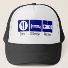 Eat, Sleep, Game Trucker Hat
