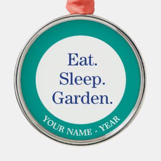 Eat. Sleep. Garden. Christmas Ornament