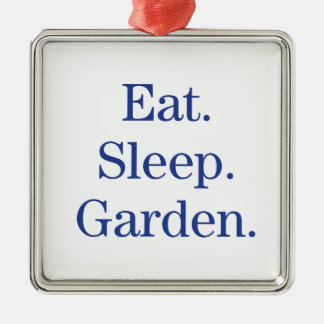 Eat. Sleep. Garden. Christmas Ornament
