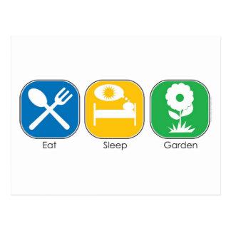 Eat Sleep Garden Postcard
