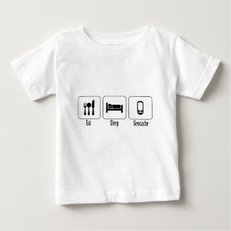 Eat, Sleep, Geocache Baby T-Shirt