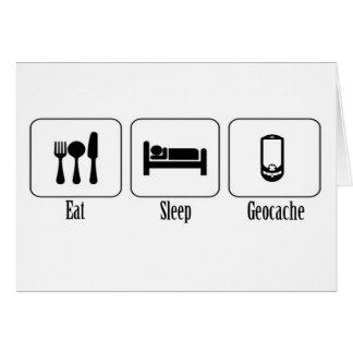 Eat, Sleep, Geocache Card