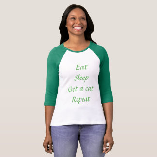 eat sleep geta cat repeat T-shirt
