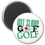eat sleep Golf 6 Cm Round Magnet