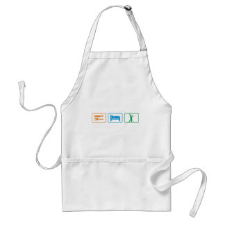 eat sleep golf apron