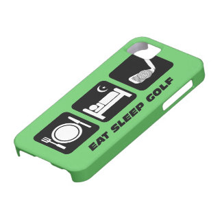 eat sleep golf barely there iPhone 5 case