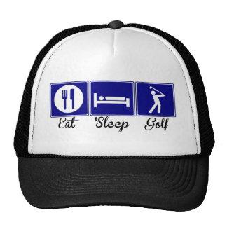 Eat, Sleep, Golf Cap