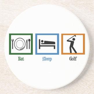 Eat Sleep Golf Coaster