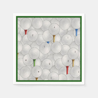 Eat Sleep Golf Disposable Napkin