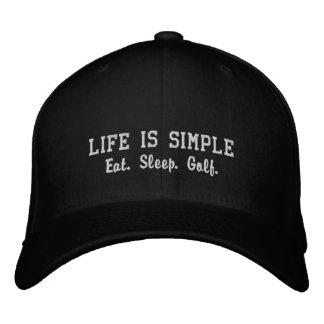 Eat. Sleep. Golf. Embroidered Cap