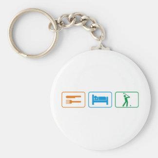 eat sleep golf key chain